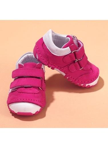 Kiko Kids Kiko Kids Teo 138 %100 Deri Orto pedik Cırtlı Kız Çocuk Ayakkabı Fuşya